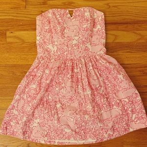 Lilly Pulitzer Dress Strapless Size 8